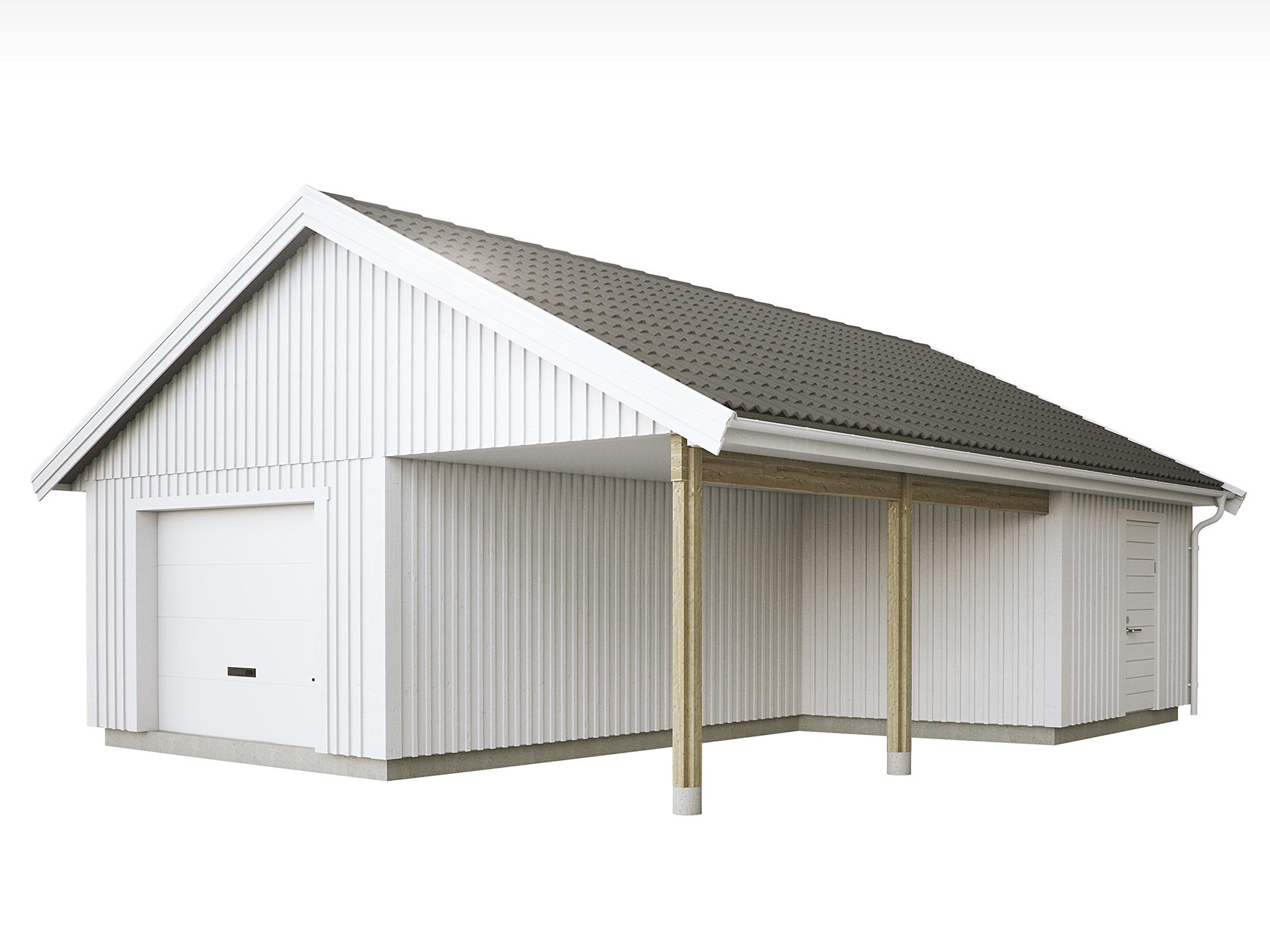 Garage med carport g57 1r myresj hus for Credit garage renault